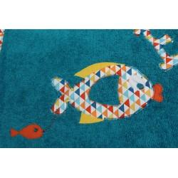 Draps de bain poisson et prénom